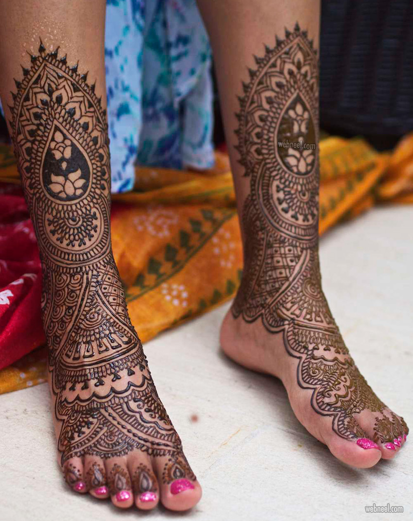 foot leg mehndi design by darcy vasudev