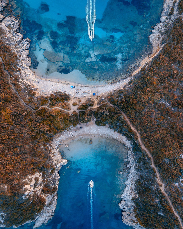 aerial photography greek island by dimitar karanikolov
