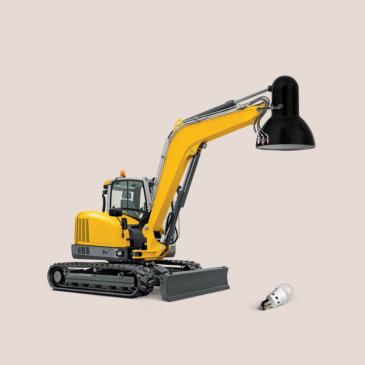 excavator lens photo montage photoshop by mohamed el nagdy
