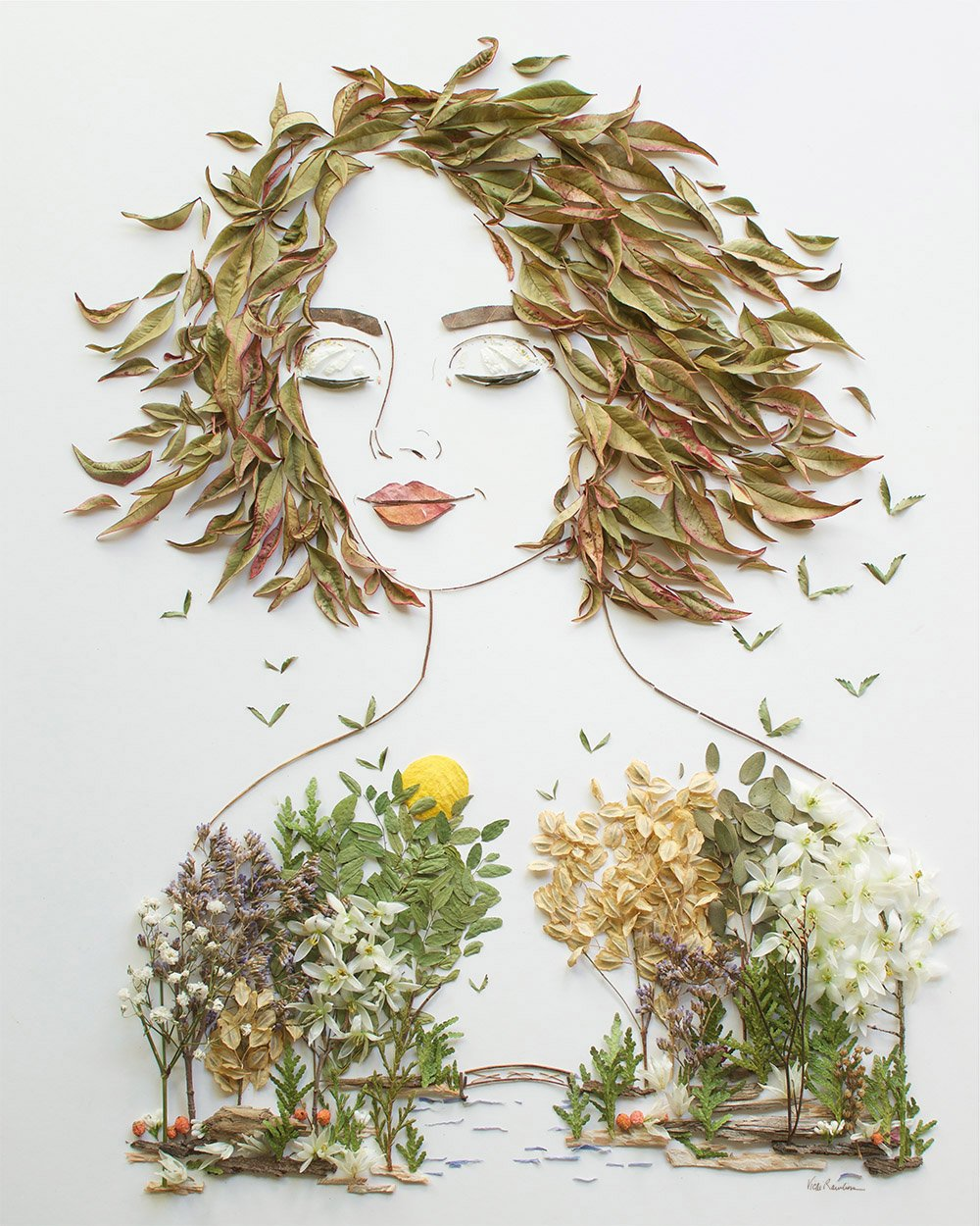 bridgegirl flower art portrait