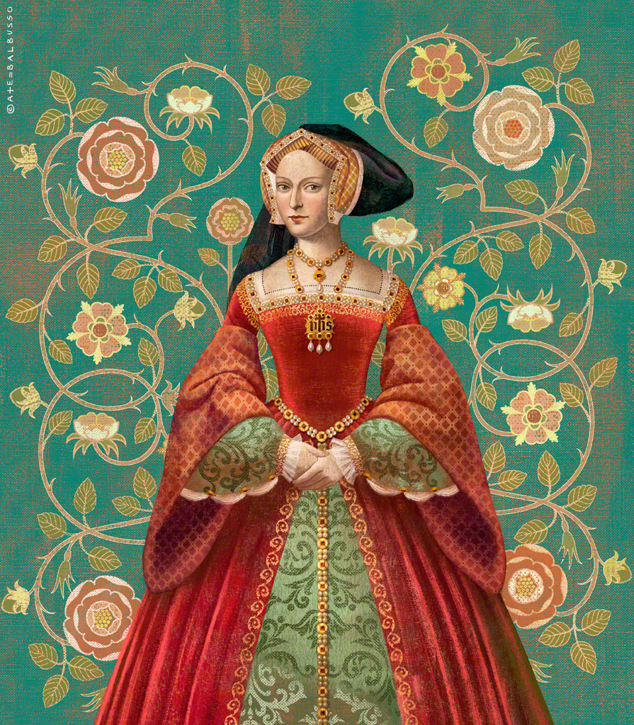 digital art tudor queen by anna elena