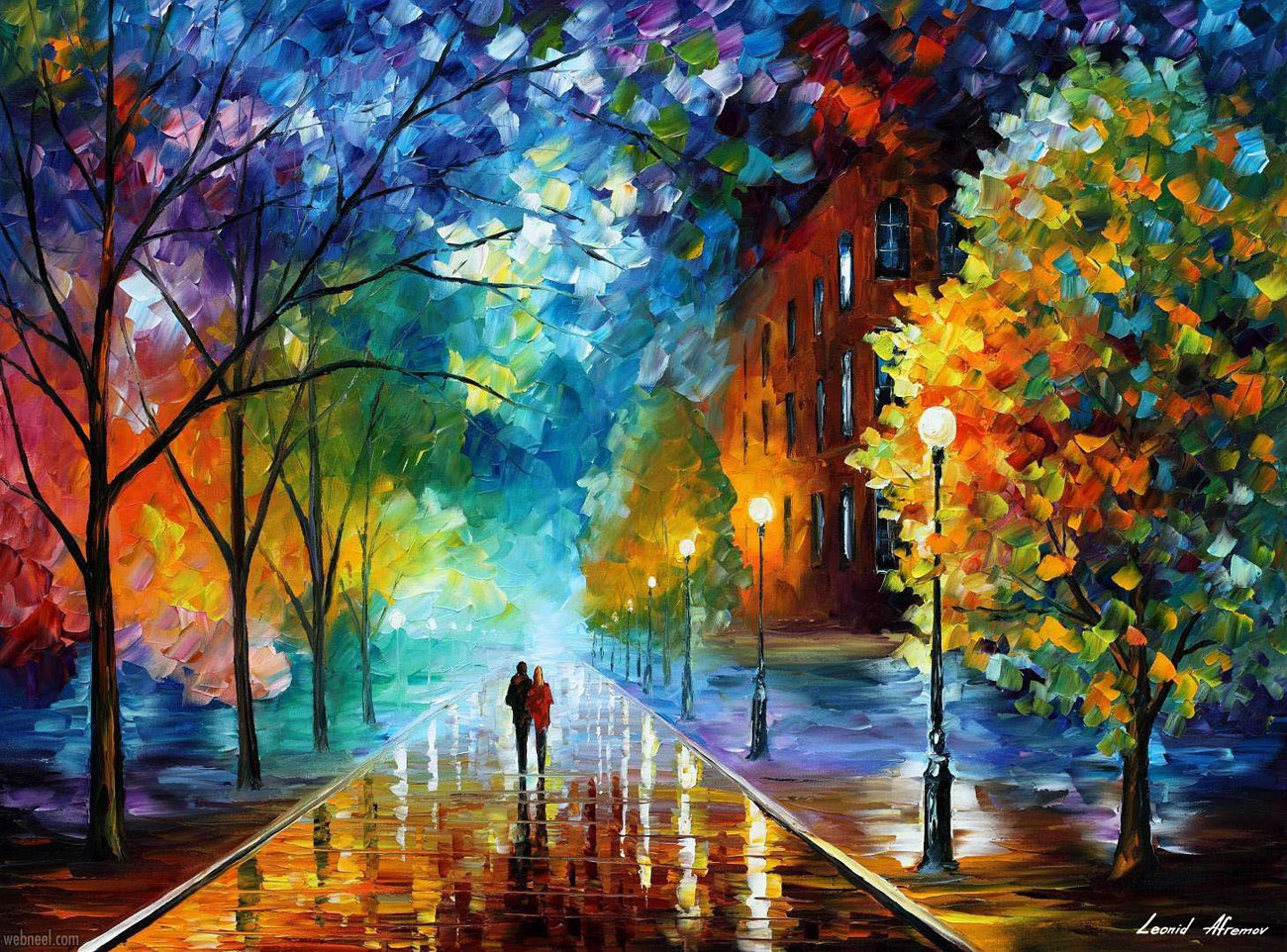 landscape oil painting by afremov