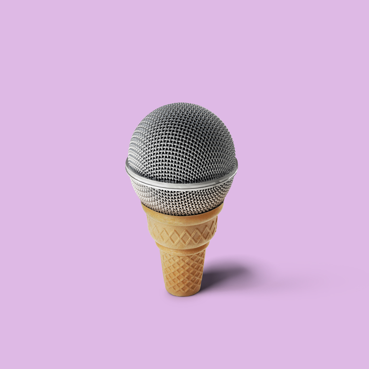 microphone photo montage photoshop by mohamed el nagdy