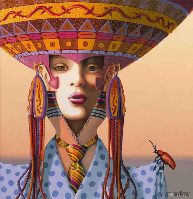 surreal painting artwork lady by nil gleyen