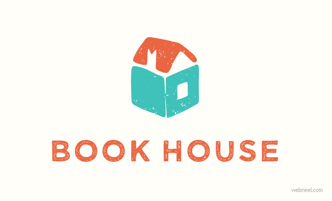 best logo design book house by alexaerkaeva