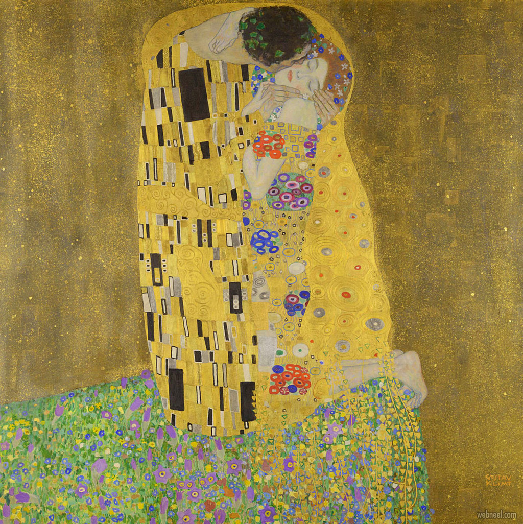 famous oil painting kiss