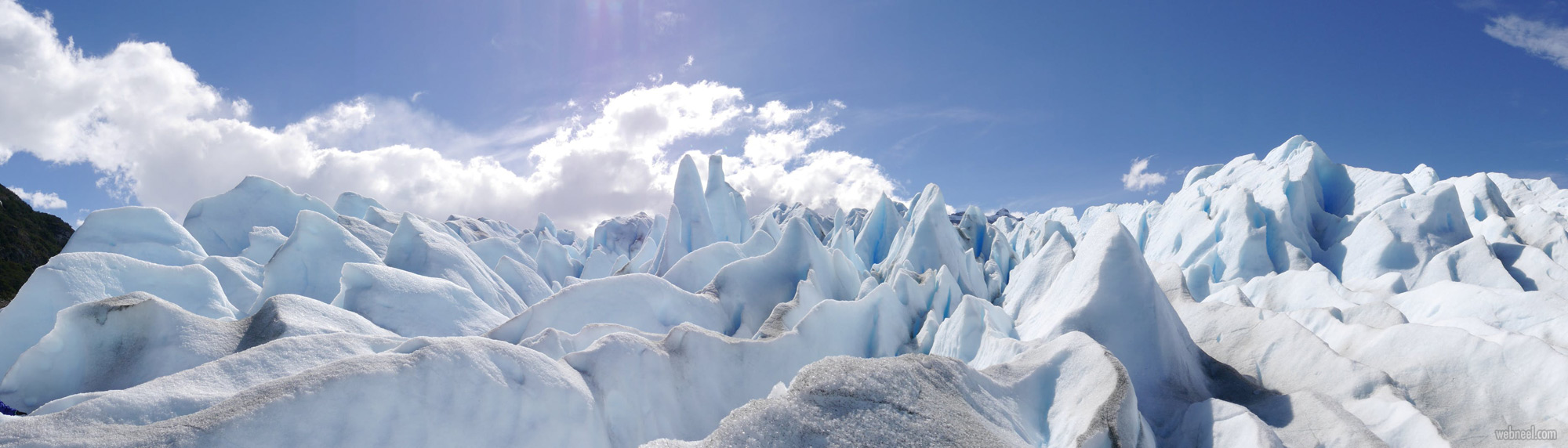 panoramic photography ice