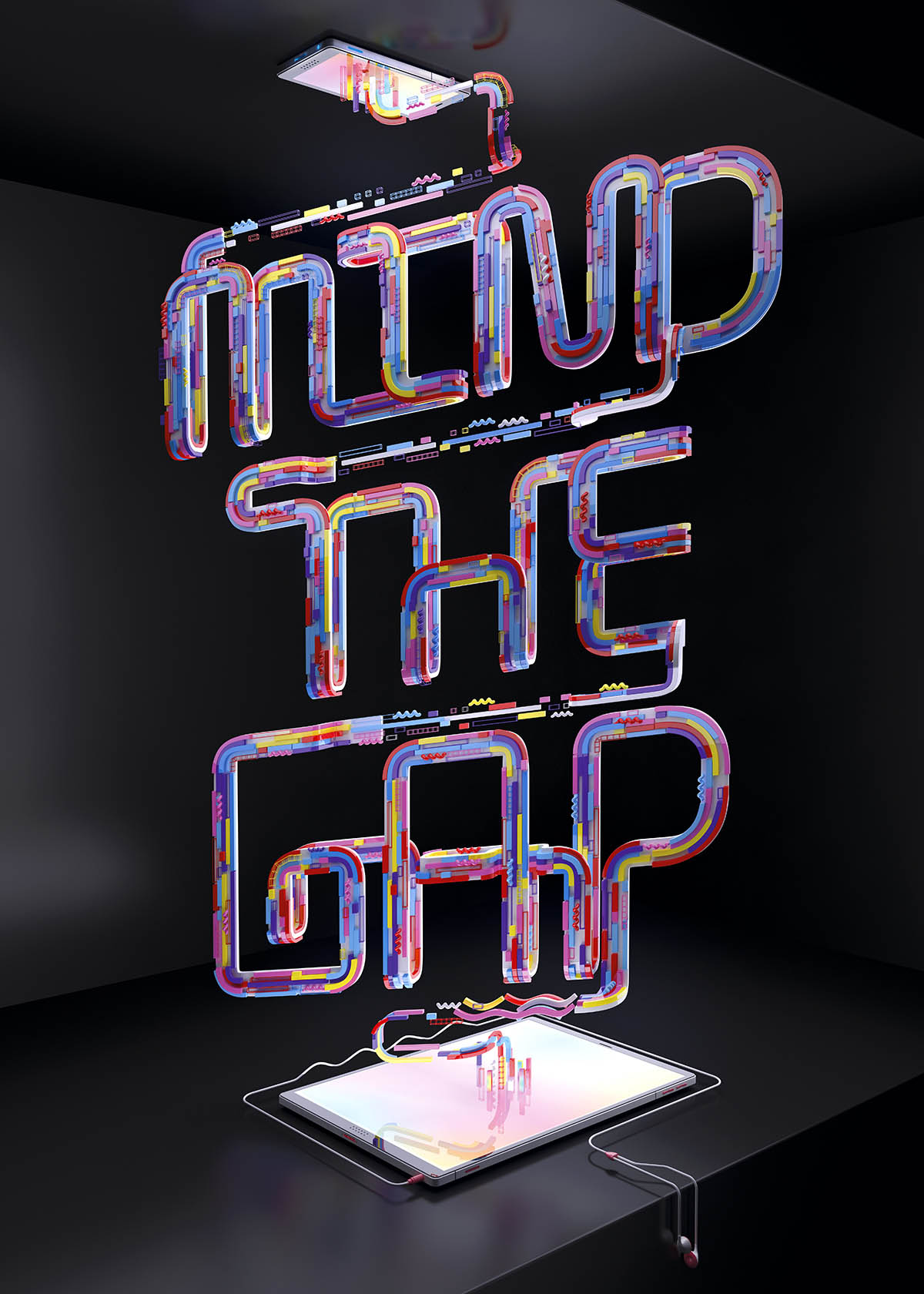 typography design 3d by muokkaa studio