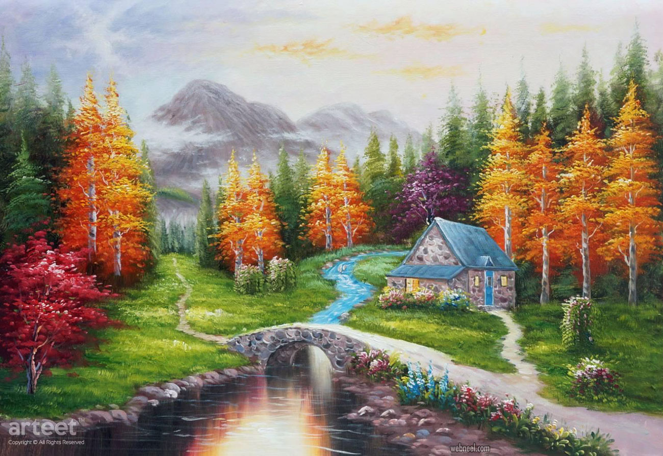 scenery landscape oil painting