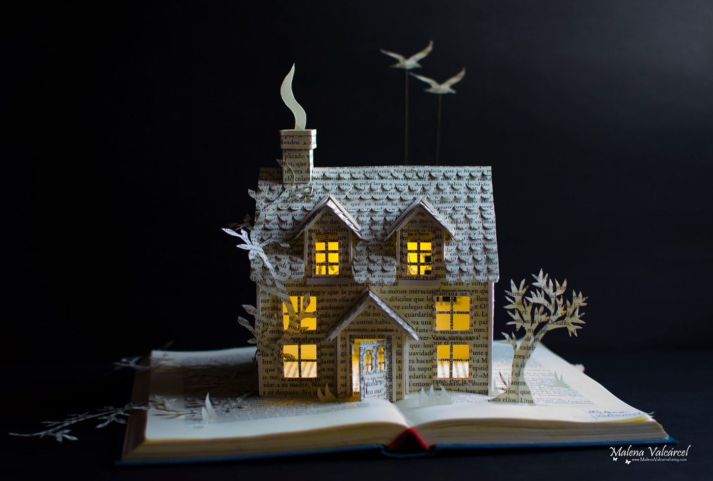 paper sculpture house by malena valcarcel