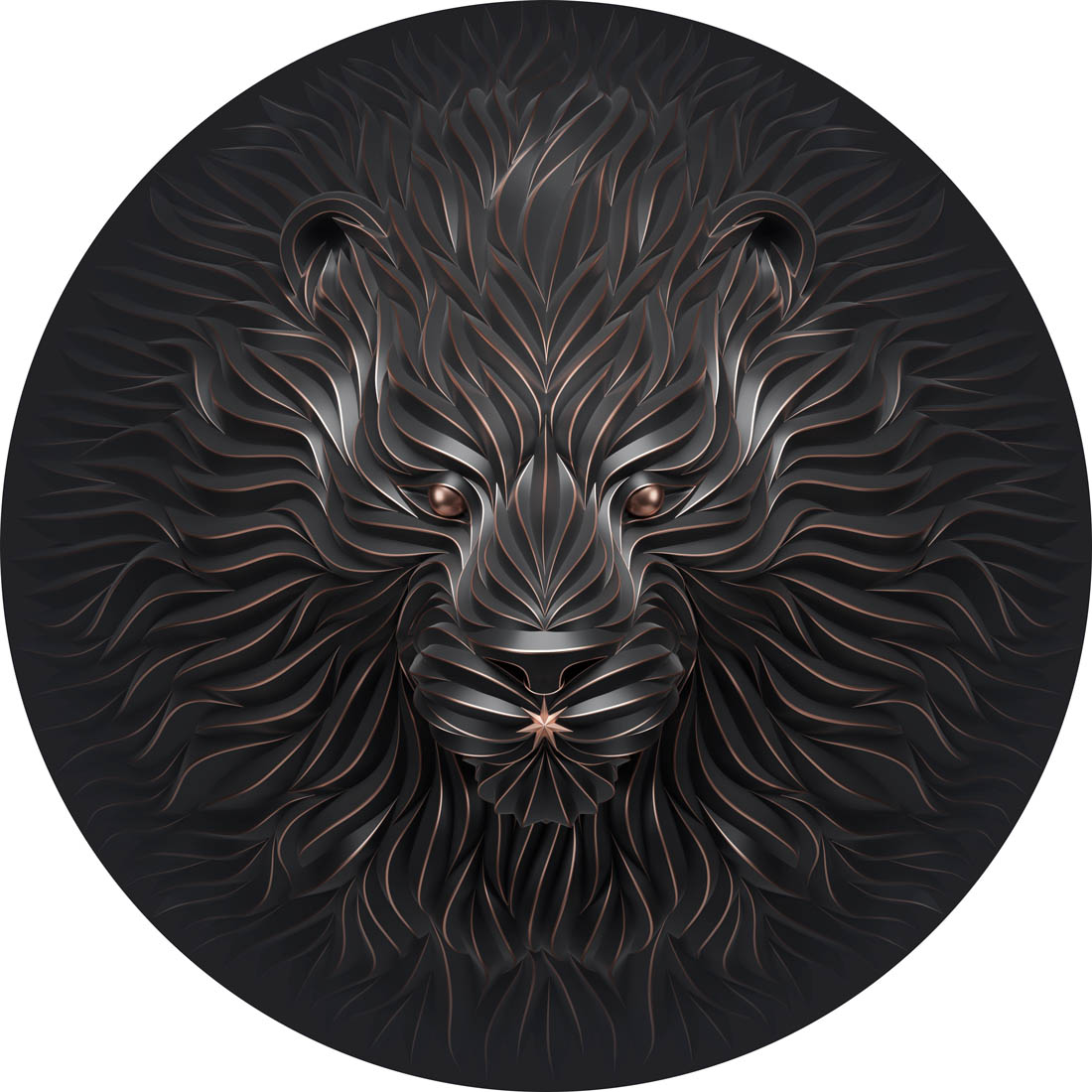 sculpture lion by maxim shkret