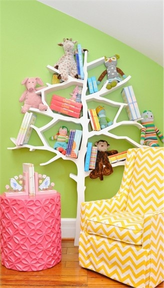 Amazing Tree Book shelf Creative Wall structure children