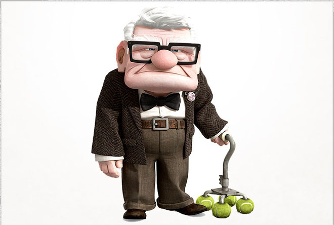 carl fredricksen   up   best animation movie character