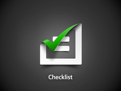 Checklist Icon Creative design DIY project