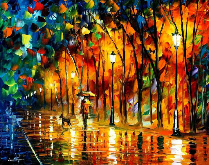 colorful painting best beautiful leonid afremov vivid colored oil  acrylic water color. 28 Beautiful Vividly Colored Landscapes and Paintings by Leonid