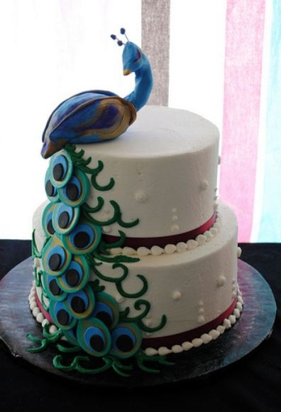 peacock cake images