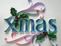 paper typography christmas