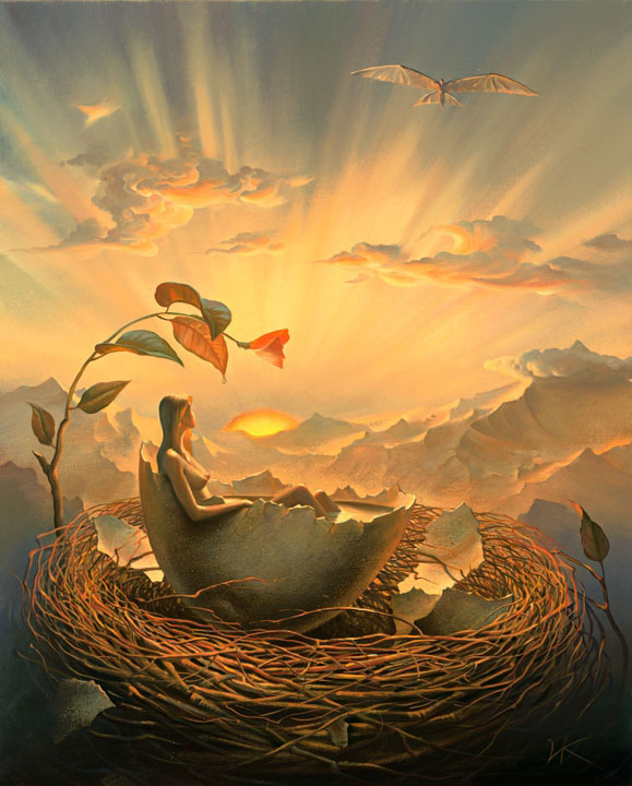 35 surreal and creative oil paintings by artist vladimir kush for Creative paintings pictures
