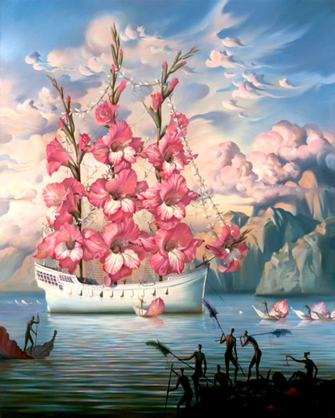 beautiful creative oil painting vladimir kush surreal illusion