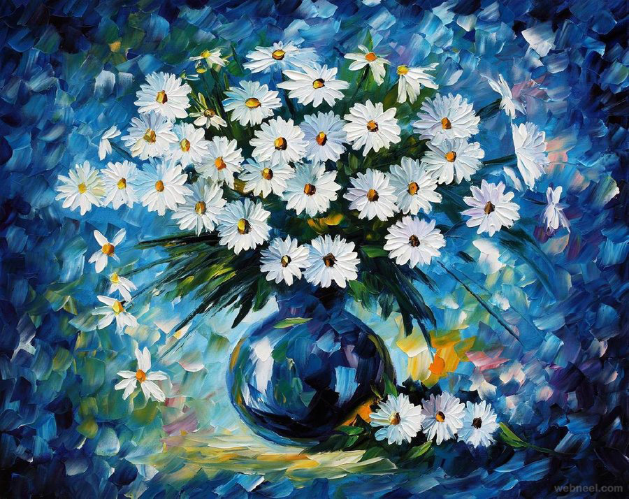 40 beautiful and realistic flower paintings for your inspiration flower paintings mightylinksfo