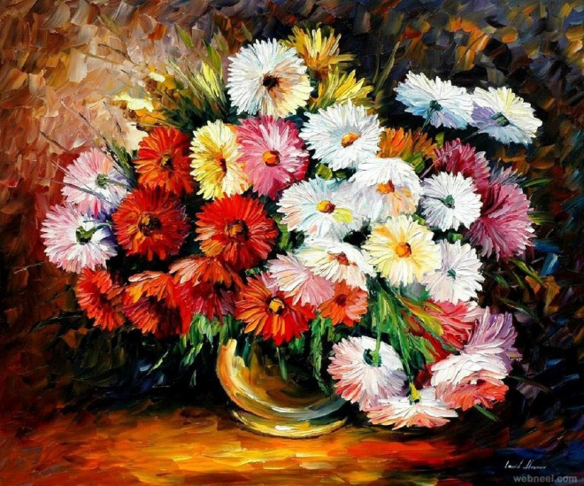 beautiful and realistic flower paintings for your inspiration, Natural flower