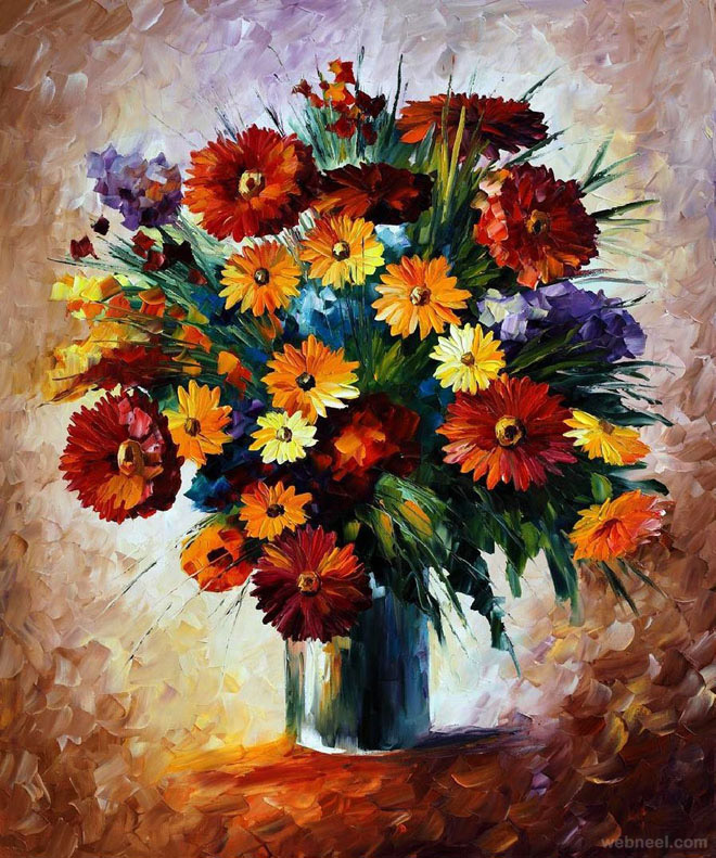 40 Beautiful And Realistic Flower Paintings For Your Inspiration