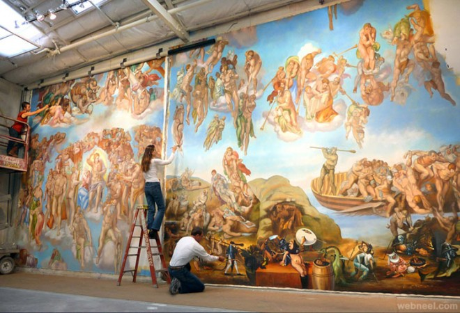 30 beautiful wall mural paintings for your inspiration for Best paint for a wall mural