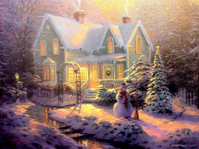 40 beautiful christmas paintings for your inspiration