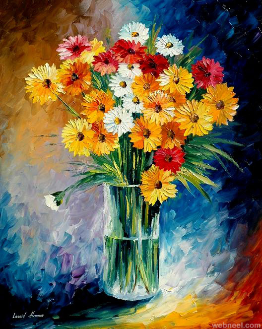 40 Beautiful And Realistic Flower Paintings For Your