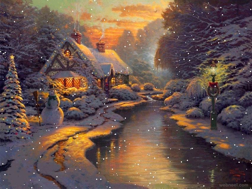 christmas paintings