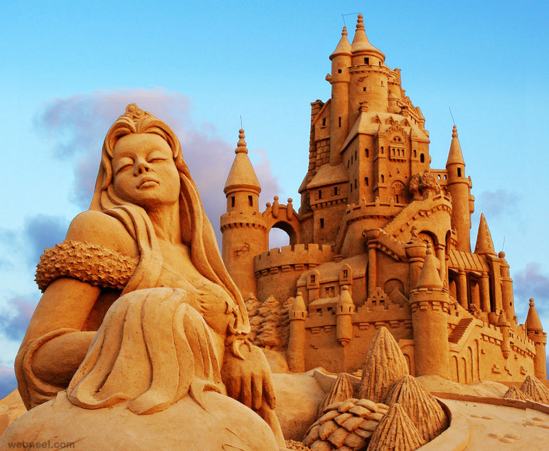 sand sculpture by ahermin