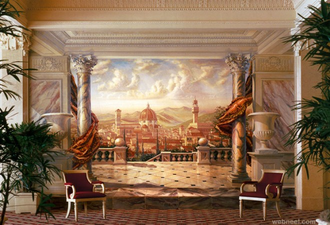 Wall mural paintings images galleries for Beautiful wall mural