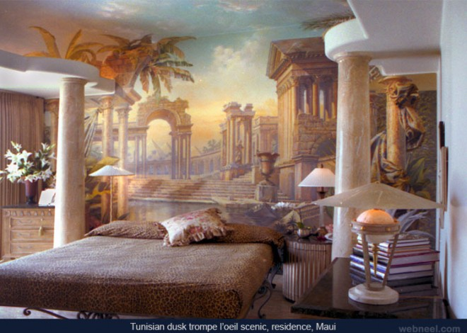 30 beautiful wall mural paintings for your inspiration for Bedroom mural painting