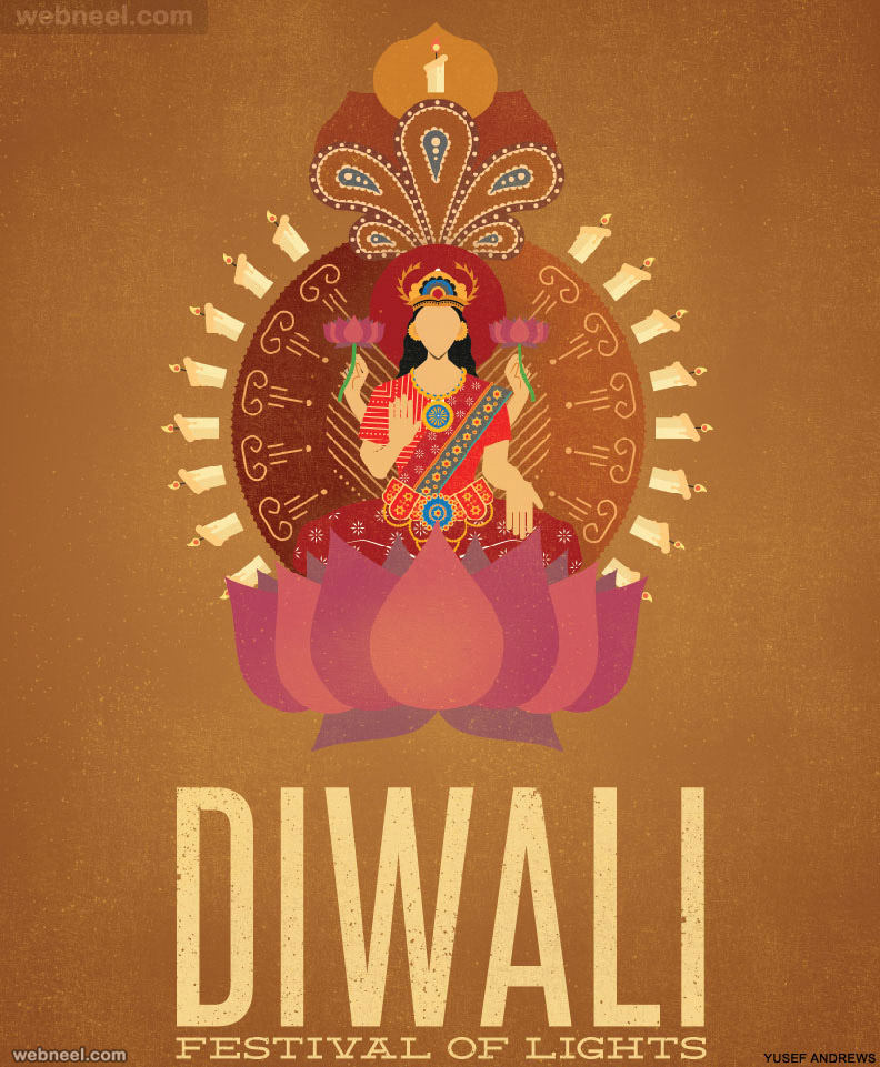 diwali greeting cards illustration