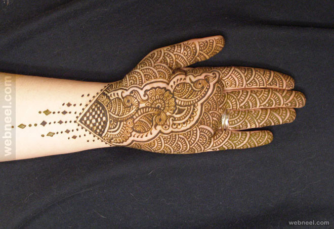 bridal mehndi designs peacock