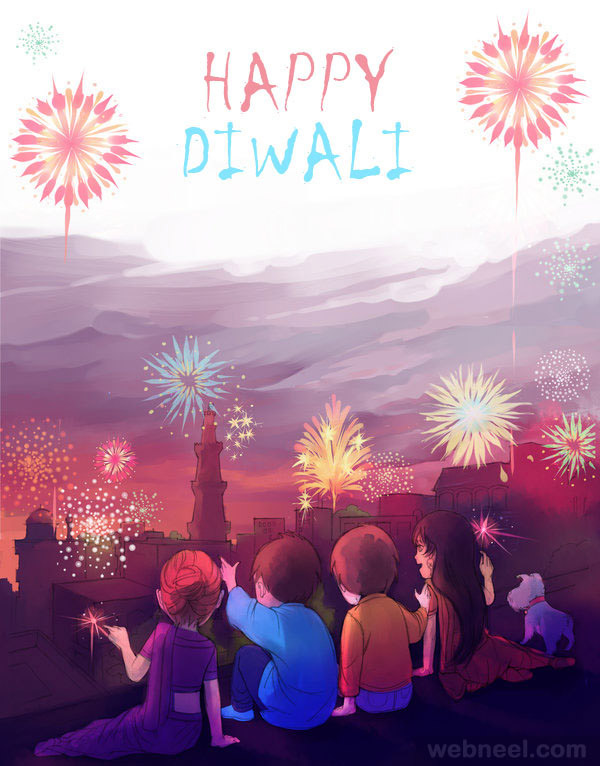 diwali greeting cards by rikae