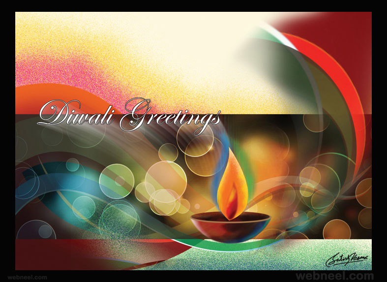 diwali greetings cards by satishverma