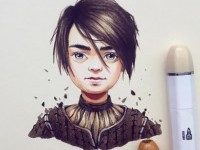 1-arya-stark-color-pencil-drawing-by-lera-kiryakova