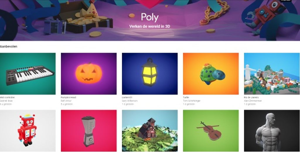 google poly 3d object library