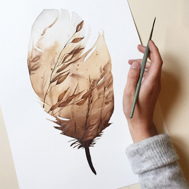 wind watercolor painting by jessica janik