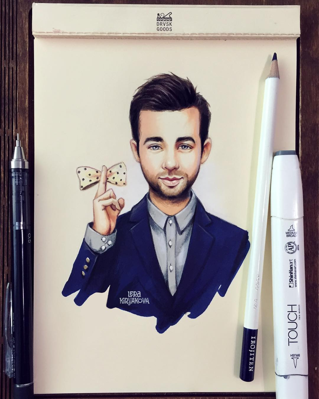 celebrity color pencil drawing