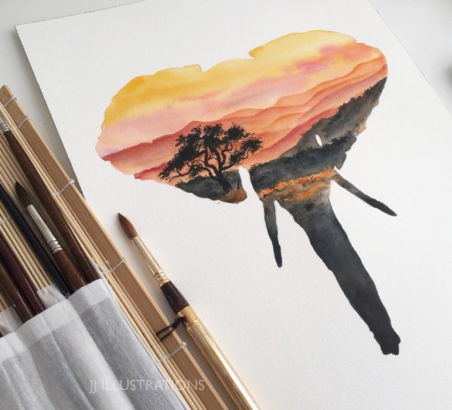 2-elephant-watercolor-painting-by-jessica-janik