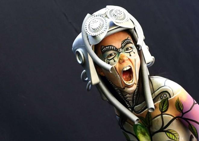 scream world body painting festival poertschach