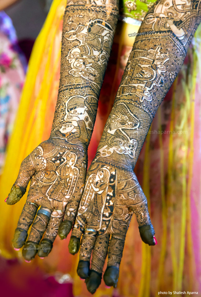 mehndi design full hand photo by shailesh