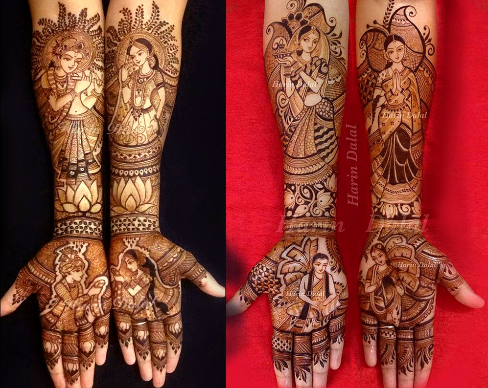 mehndi design full hand by harin dalal
