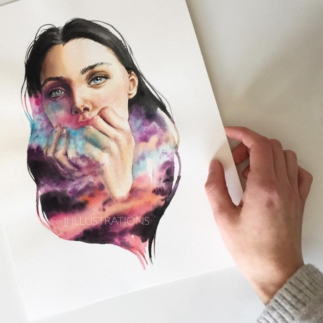 hide watercolor painting by jessica janik