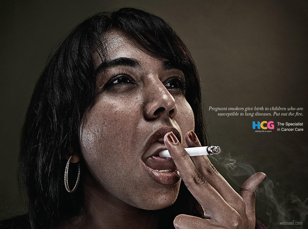 anti smoking ads poster by hcg