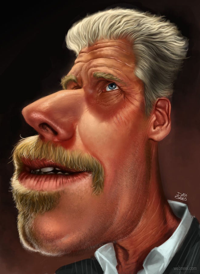 ron perlman celebrity caricature drawing