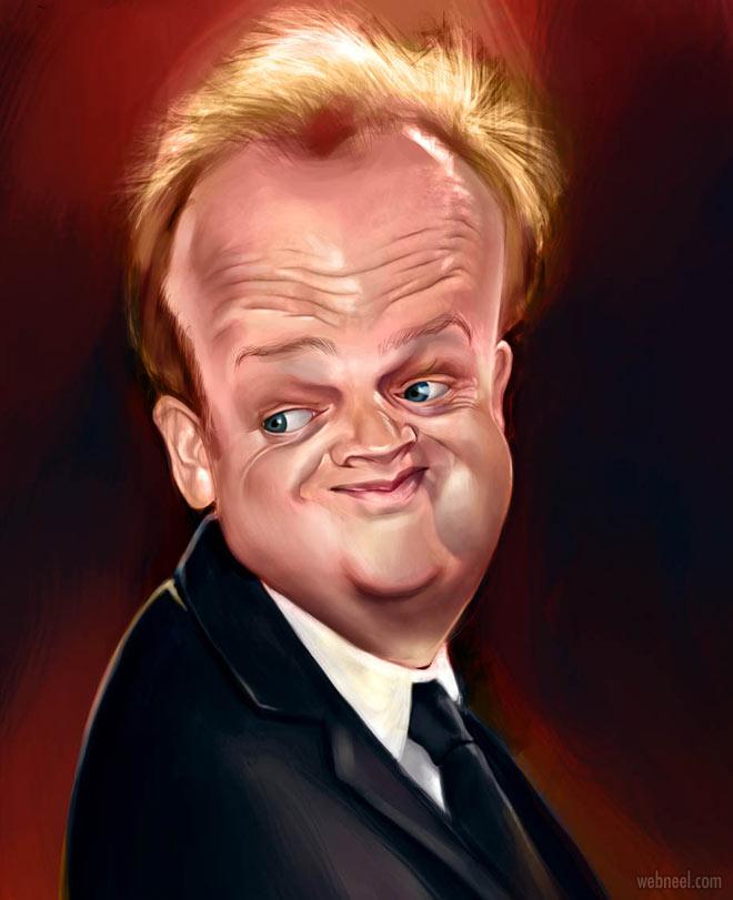 toby jones celebrity caricature drawing