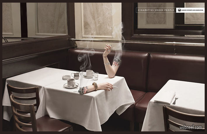 creative anti smoking advertisement poster